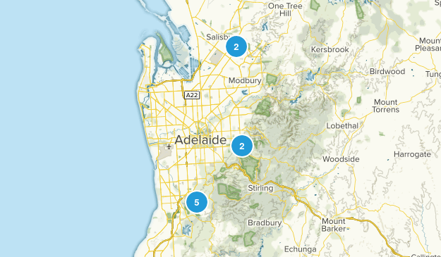 Adelaide, South Australia Nature Trips Map