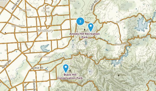 Athelstone, South Australia Hiking Map