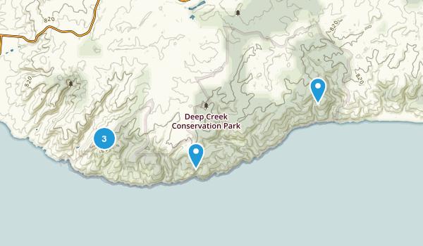 Delamere, South Australia Hiking Map
