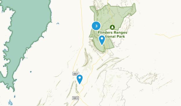 Hawker, South Australia Hiking Map