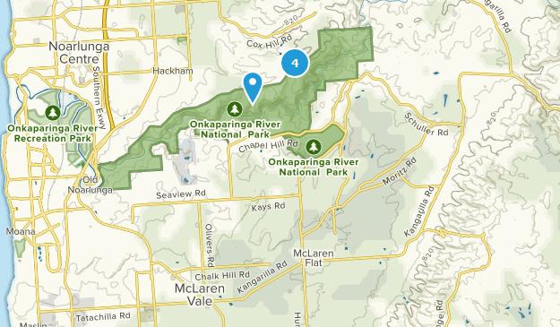 McLaren Flat, South Australia Hiking Map