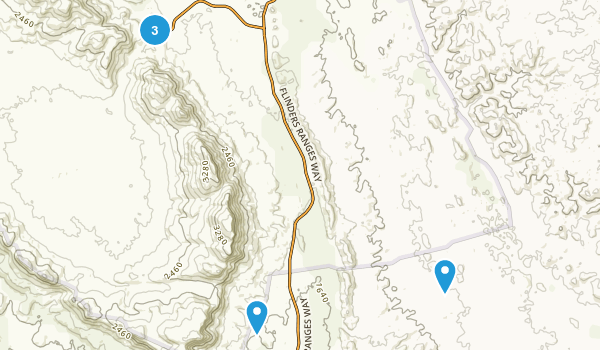 Wilpena Chalet, South Australia Hiking Map