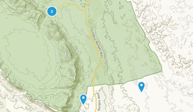 Wilpena Chalet, South Australia Walking Map