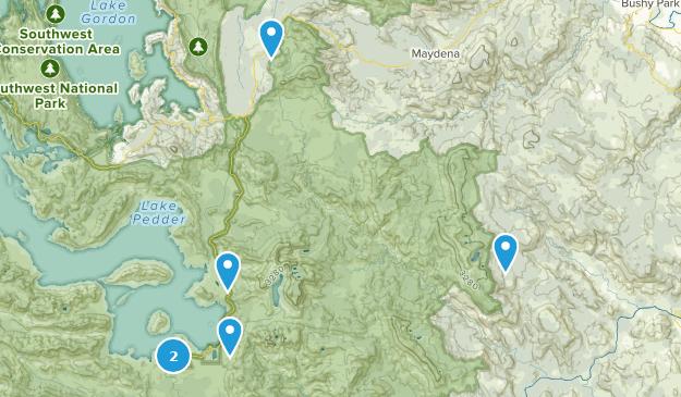 Maydena, Tasmania Hiking Map