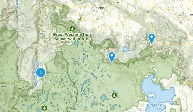 Meander, Tasmania Hiking Map