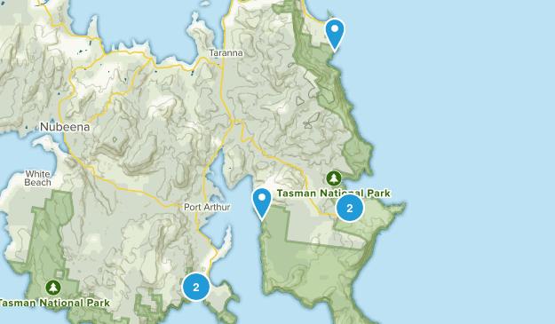 Port Arthur, Tasmania Hiking Map