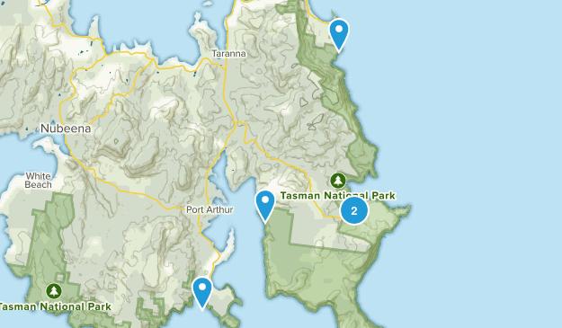 Port Arthur, Tasmania Views Map