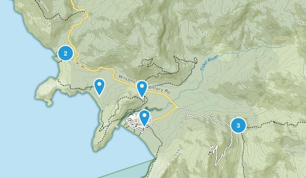Darby River, Victoria Beach Map