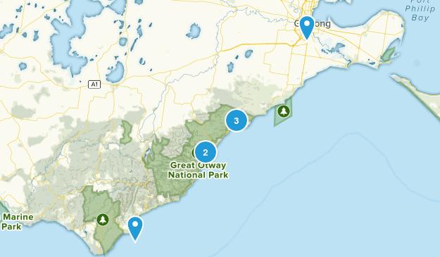 Geelong, Victoria Hiking Map