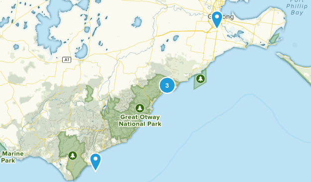 Geelong, Victoria Nature Trips Map