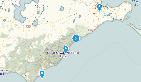 Geelong, Victoria Walking Map