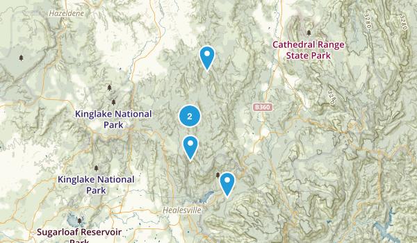 Healesville, Victoria Birding Map