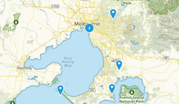 Melbourne, Victoria Birding Map