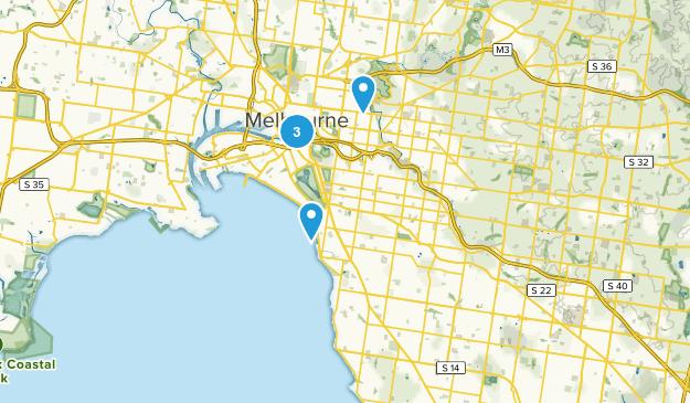 Melbourne, Victoria City Walk Map