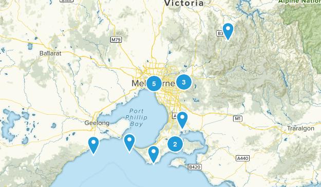 Melbourne, Victoria Hiking Map
