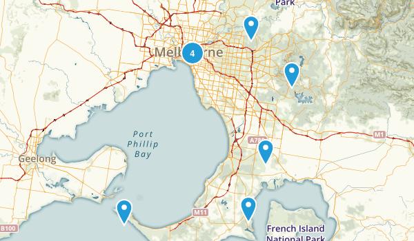Melbourne, Victoria Nature Trips Map