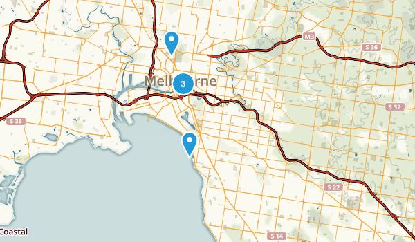 Melbourne, Victoria Road Biking Map