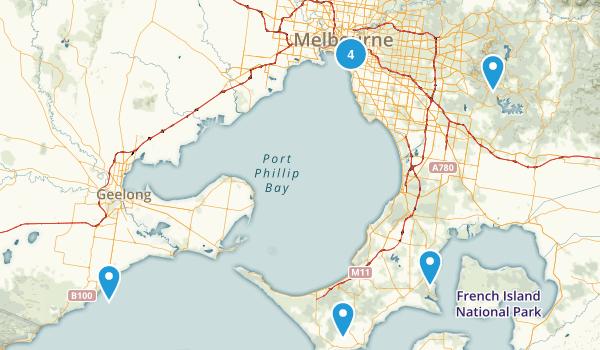 Melbourne, Victoria Trail Running Map