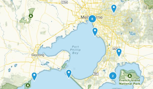 Melbourne, Victoria Walking Map