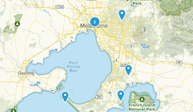 Melbourne, Victoria Wild Flowers Map