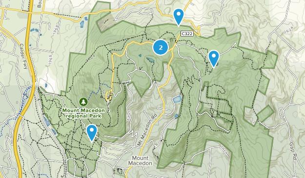 Mount Macedon, Victoria Hiking Map