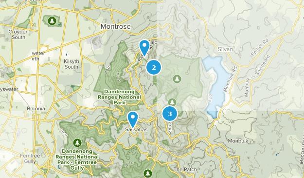 Sassafras, Victoria Hiking Map