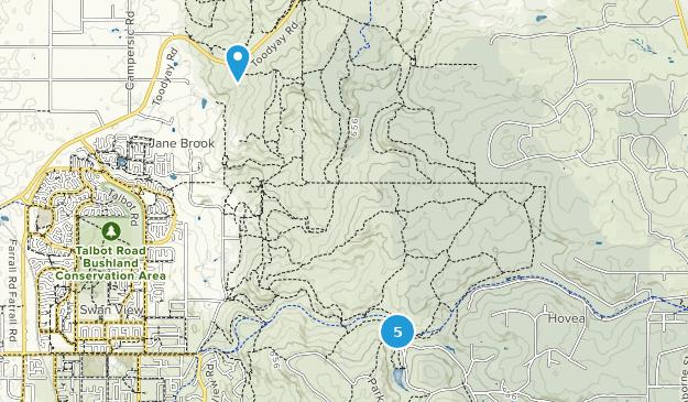 Hovea, Western Australia Hiking Map