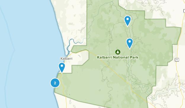 Kalbarri, Western Australia Walking Map