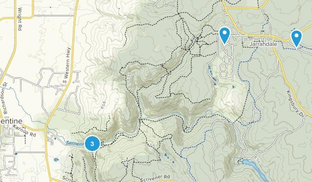 Serpentine, Western Australia Hiking Map