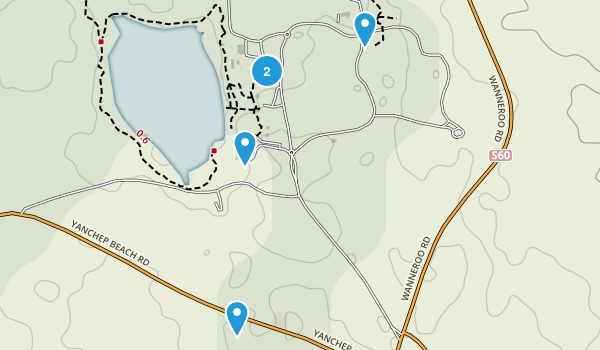 Two Rocks, Western Australia Hiking Map