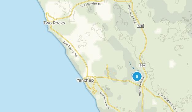 Two Rocks, Western Australia Hiking Map