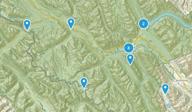 Banff, Alberta Birding Map