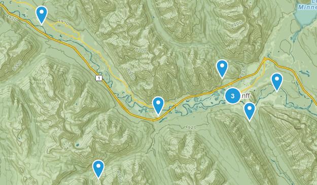 Banff, Alberta Trail Running Map