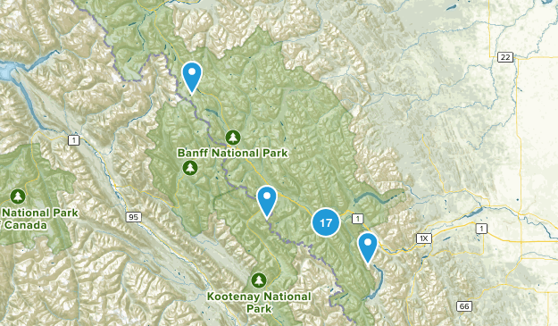 Banff, Alberta Walking Map