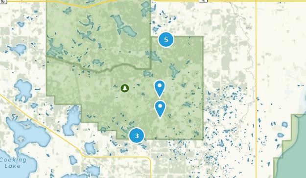 Beaver County, Alberta Hiking Map