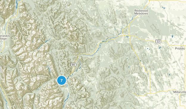 Bragg Creek, Alberta No Dogs Map