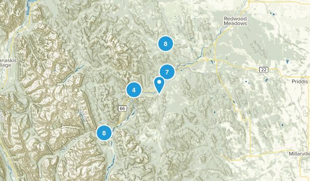 Bragg Creek, Alberta Mountain Biking Map