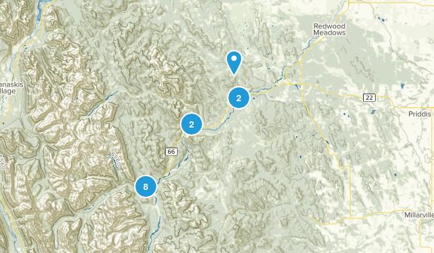 Bragg Creek, Alberta River Map