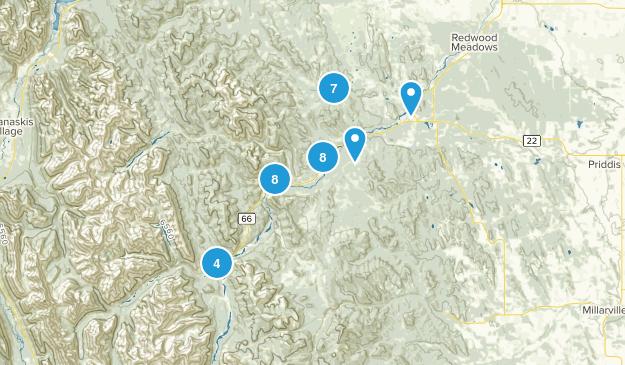 Bragg Creek, Alberta Walking Map
