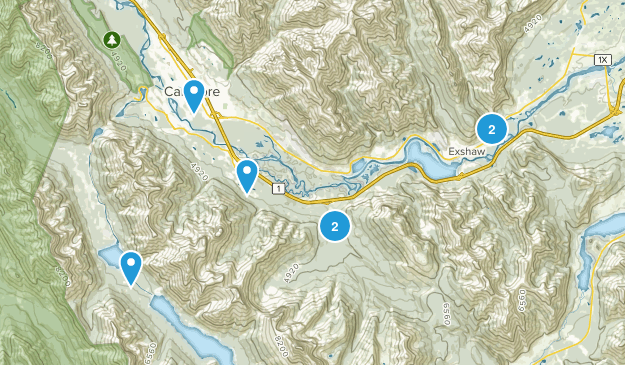 Canmore, Alberta River Map