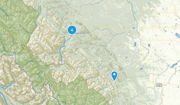 Clearwater County, Alberta Dogs On Leash Map