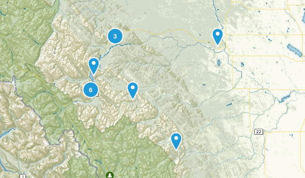 Clearwater County, Alberta Forest Map
