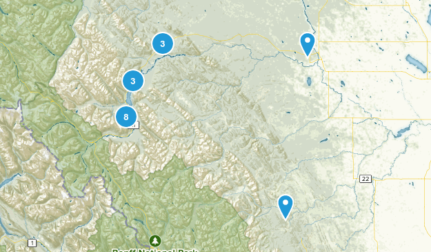 Clearwater County, Alberta Nature Trips Map