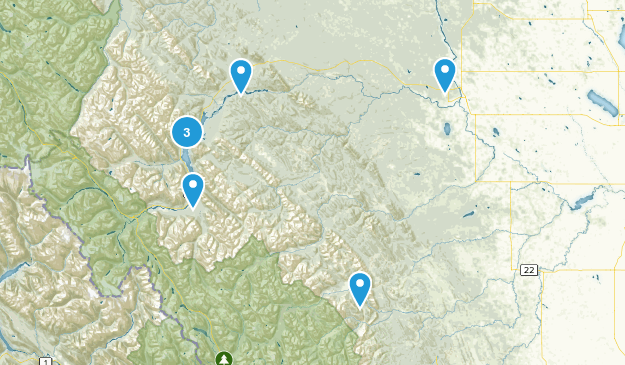 Clearwater County, Alberta Wildlife Map
