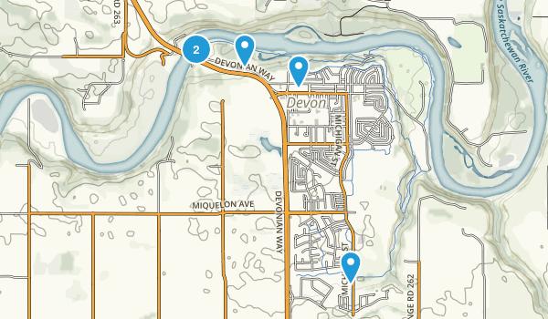 Devon, Alberta Hiking Map