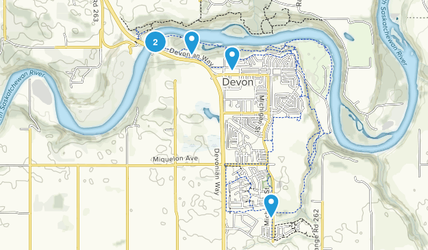 Devon, Alberta Walking Map
