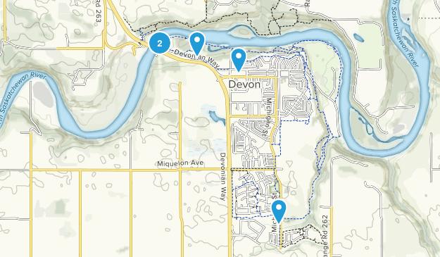 Devon, Alberta Walking Map