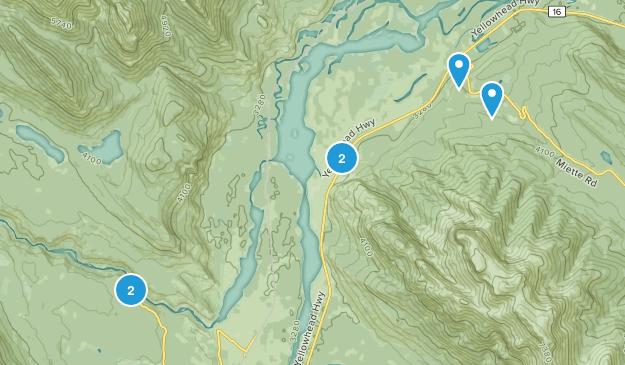 Devona, Alberta Nature Trips Map