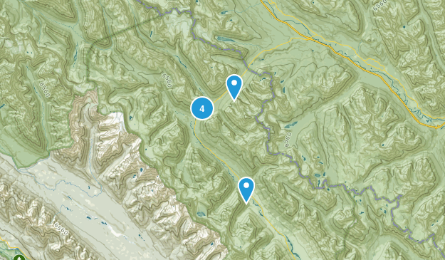 East Kootenay G, Alberta Hiking Map