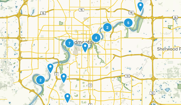 Edmonton, Alberta Forest Map